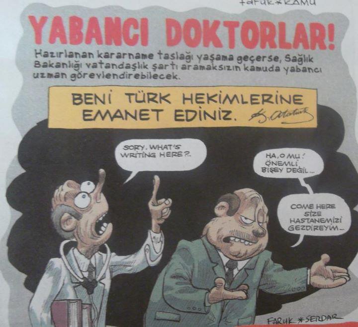 Yabancı hekimler 'Türkçe'ye takıldı